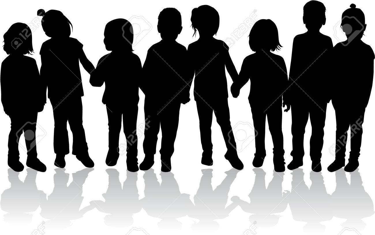 children silhouettes - 36275818