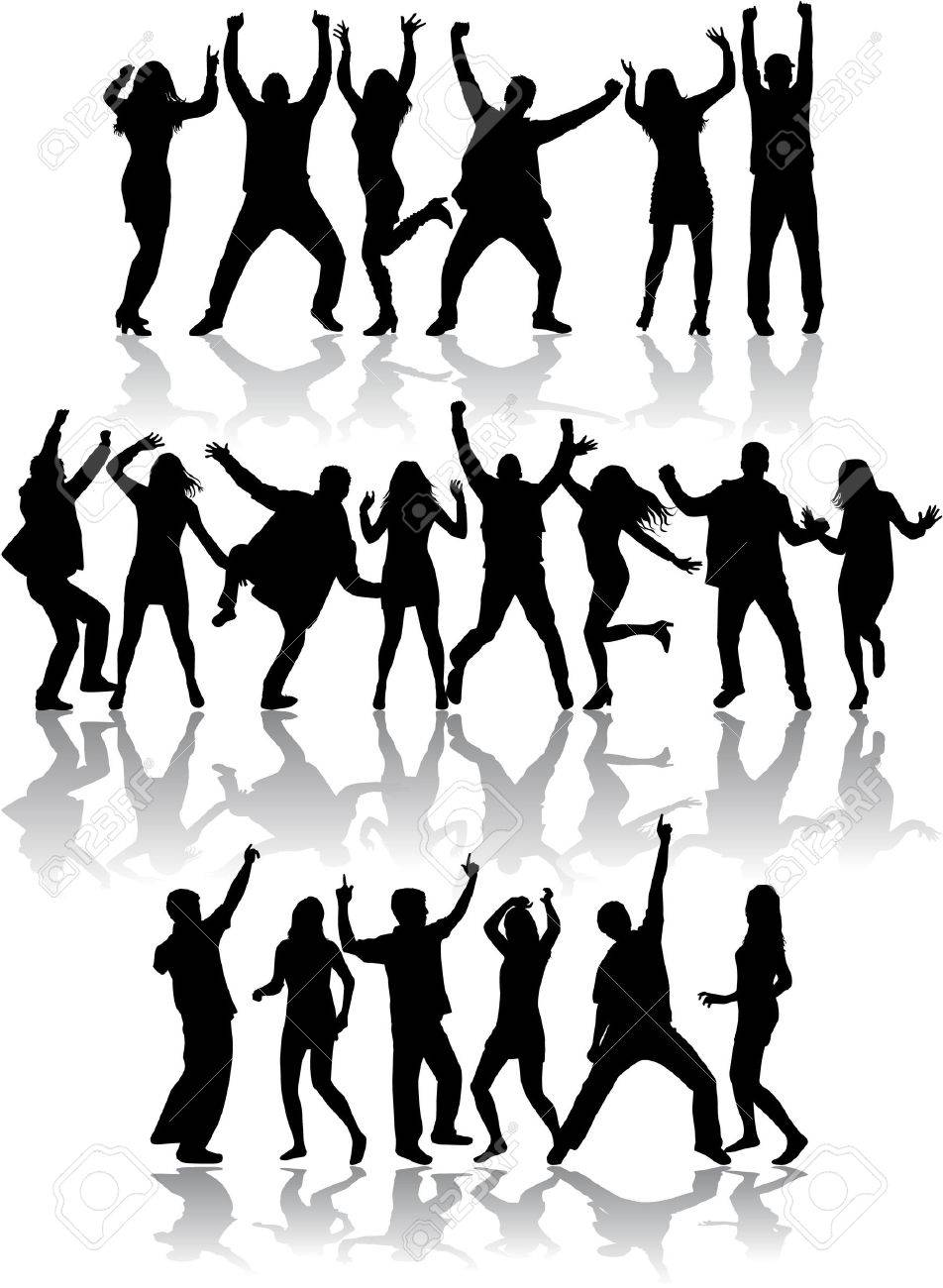 Dancing silhouettes - 36275851