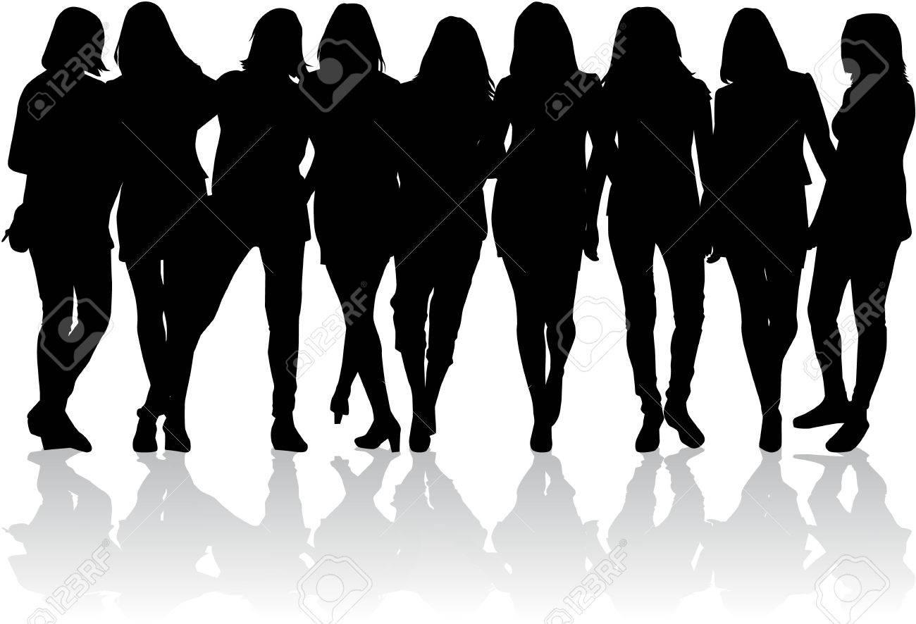 Women silhouettes - 36383711