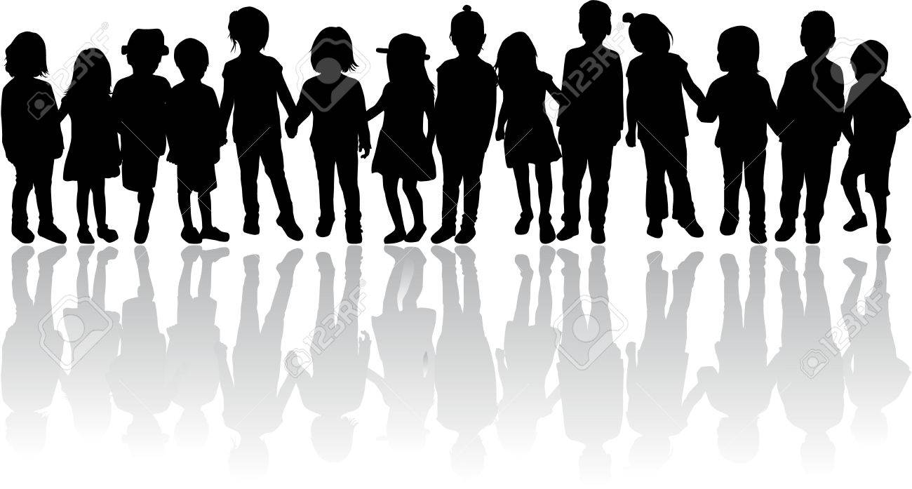 children silhouettes - 36383914