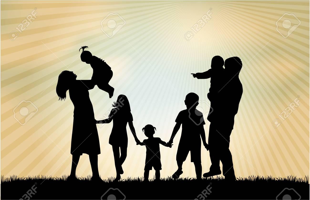 Family silhouettes - 36383917
