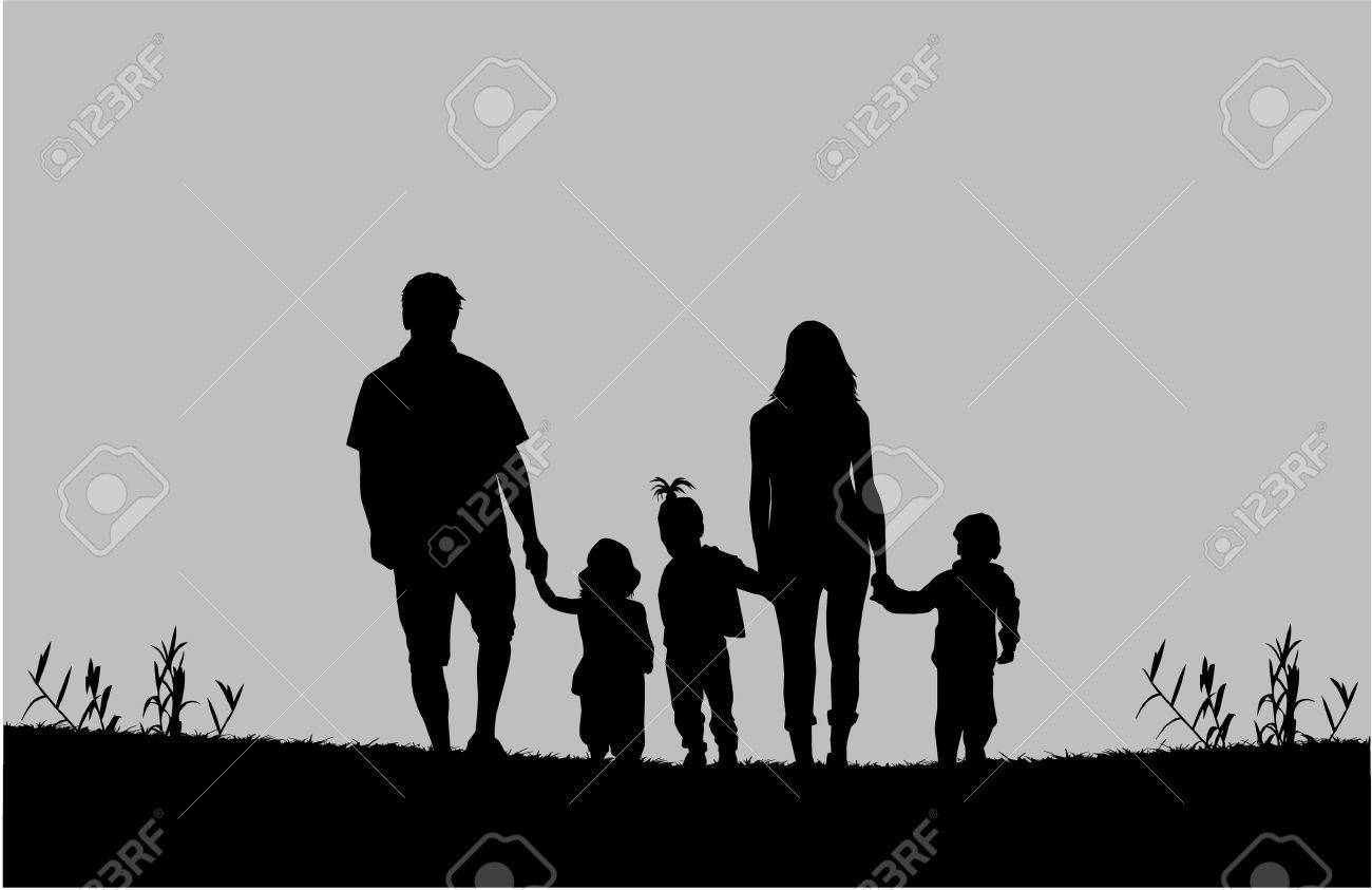 Family silhouettes - 36383969