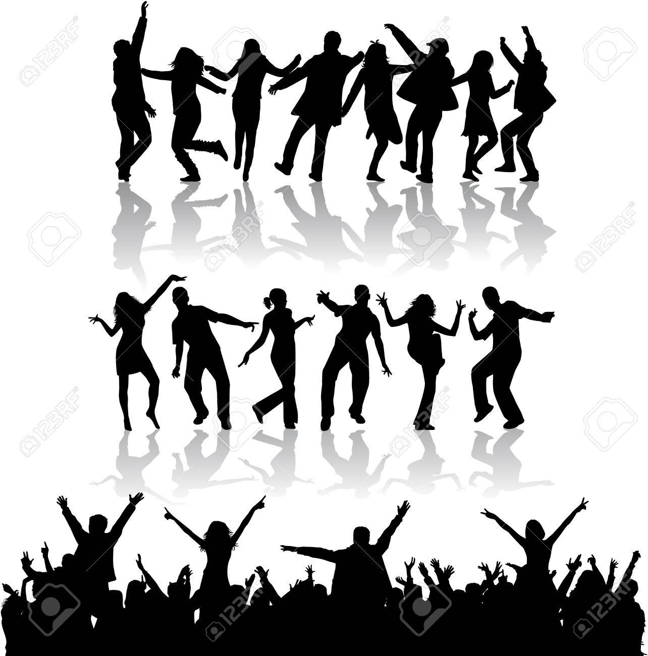 Dancing silhouettes - 36467337