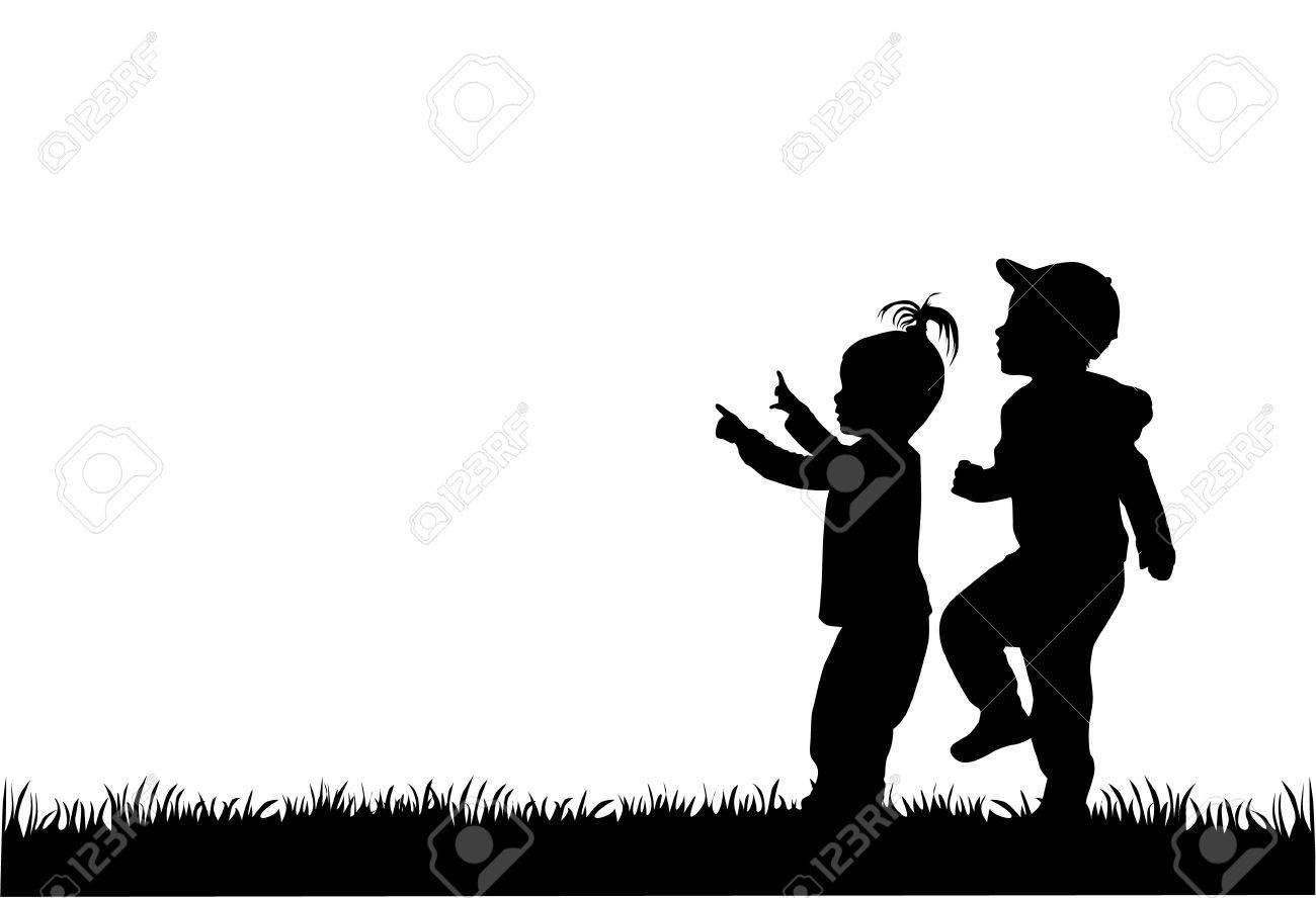 children silhouettes - 36467338