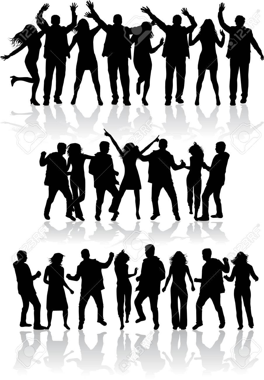 Dancing silhouettes - 36467353