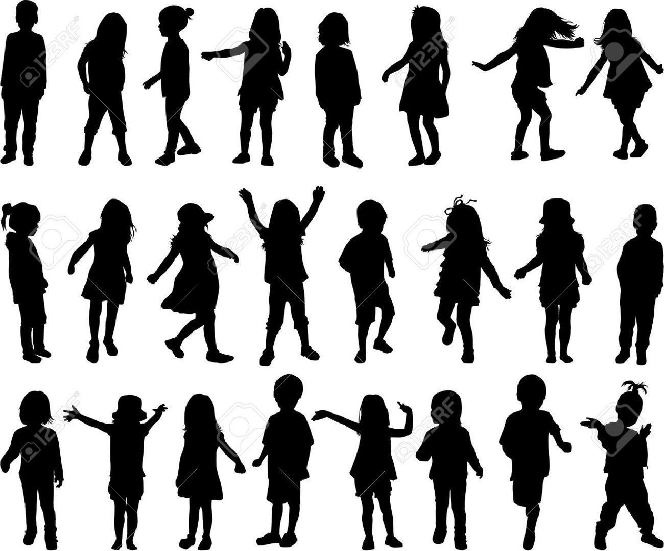 children silhouettes - 36467463