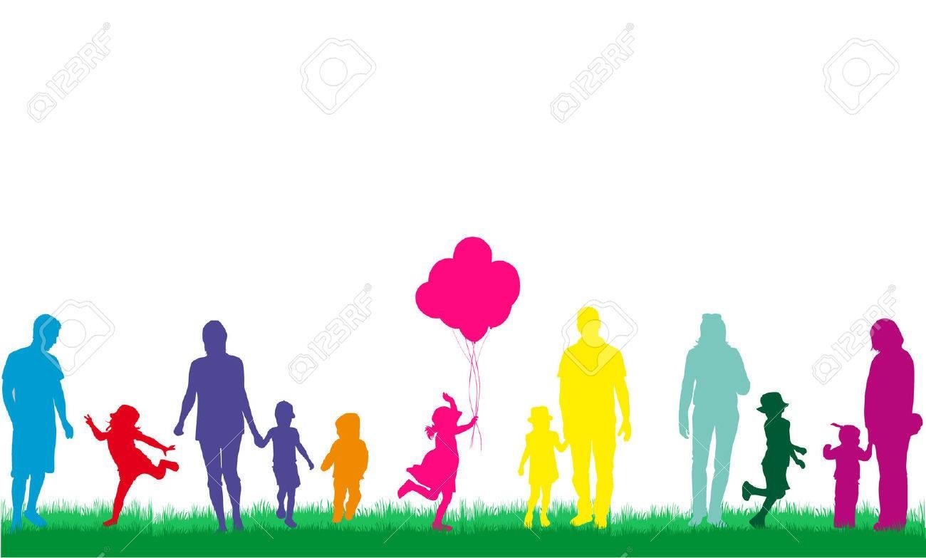 Family silhouettes - 46244540