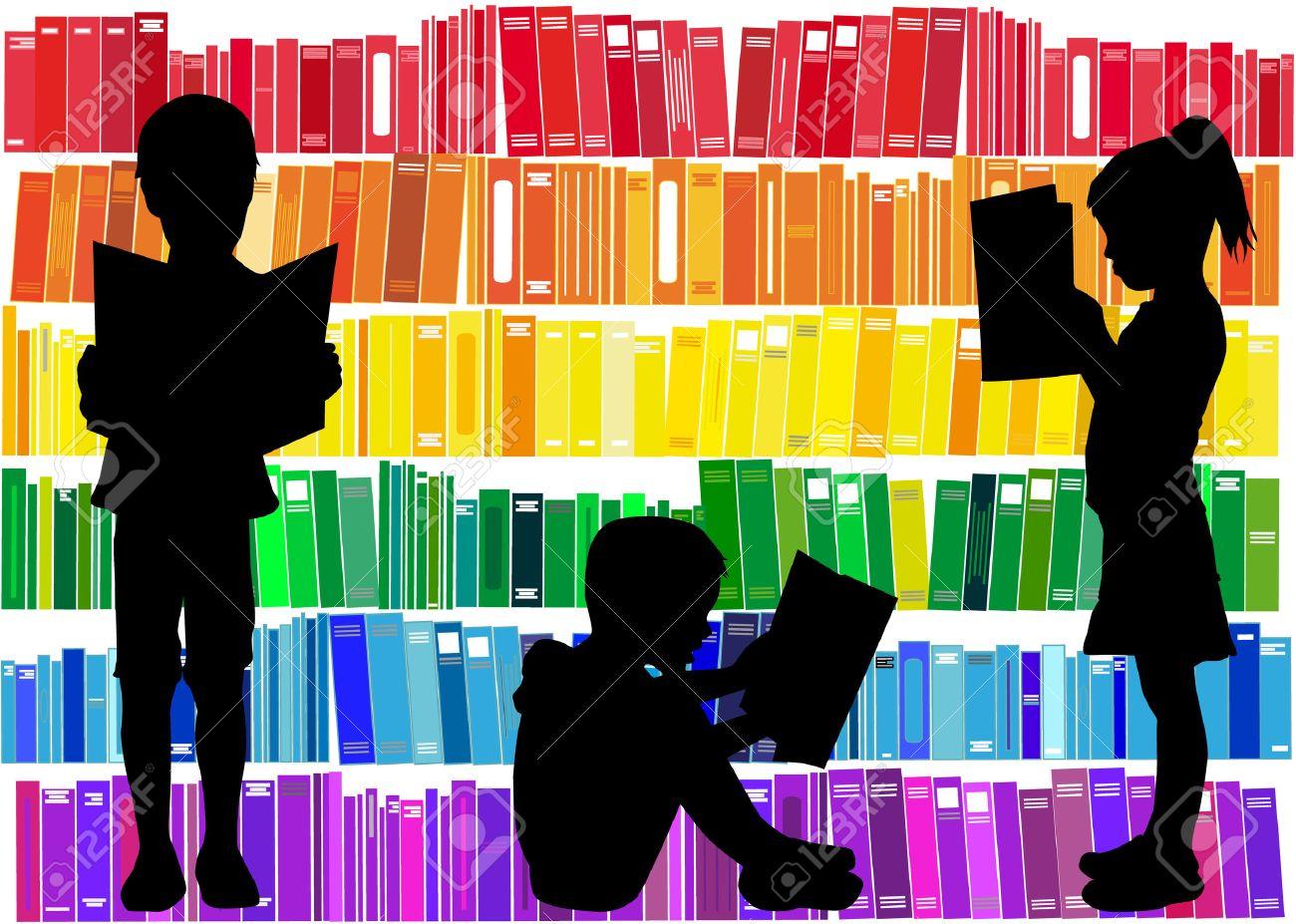 Children reading the book. - 51240312