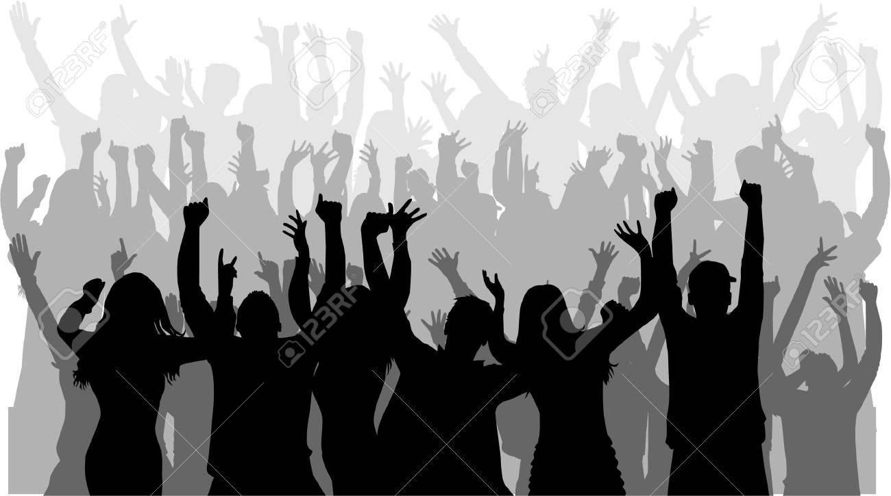 Dancing people silhouettes. Stock Vector - 51240552
