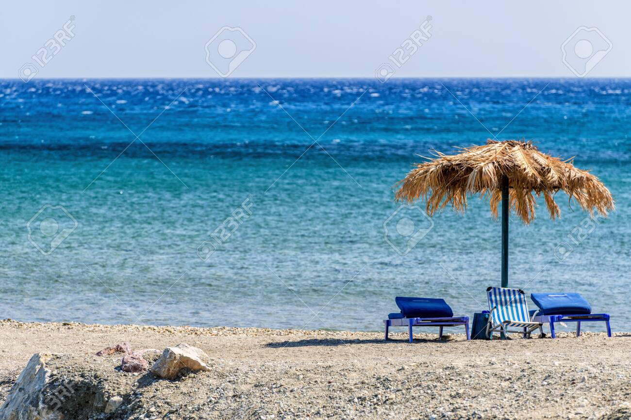Beautiful Cretan Beach On Chania Region In Crete Island Greece