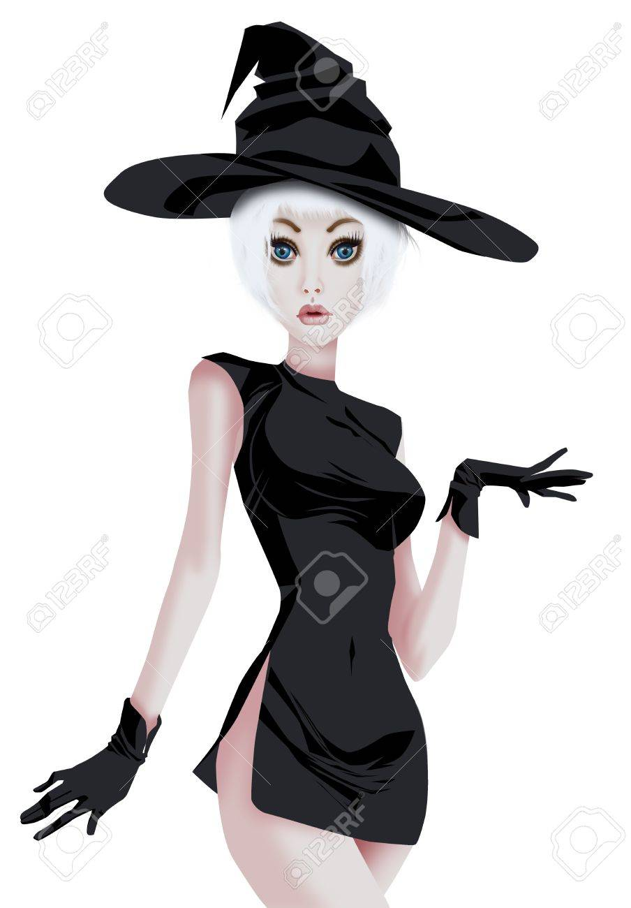 glamorous in witch costume stock photo picture and royalty