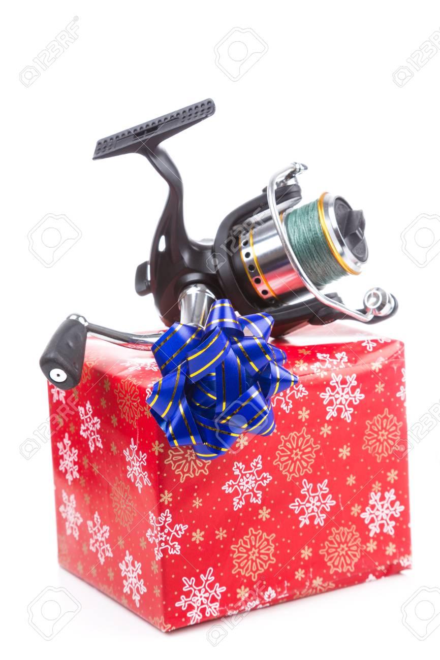 Weihnachten Und Neujahr Ein Geschenk Und Geschenk In Roter Box Für ...
