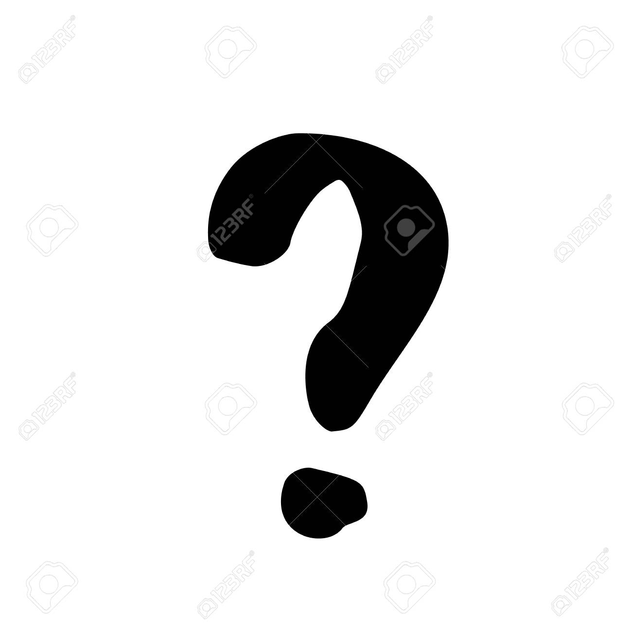 question mark sign handwritten doodle style element for graphic rh 123rf com question mark graphic tee question mark graphic design