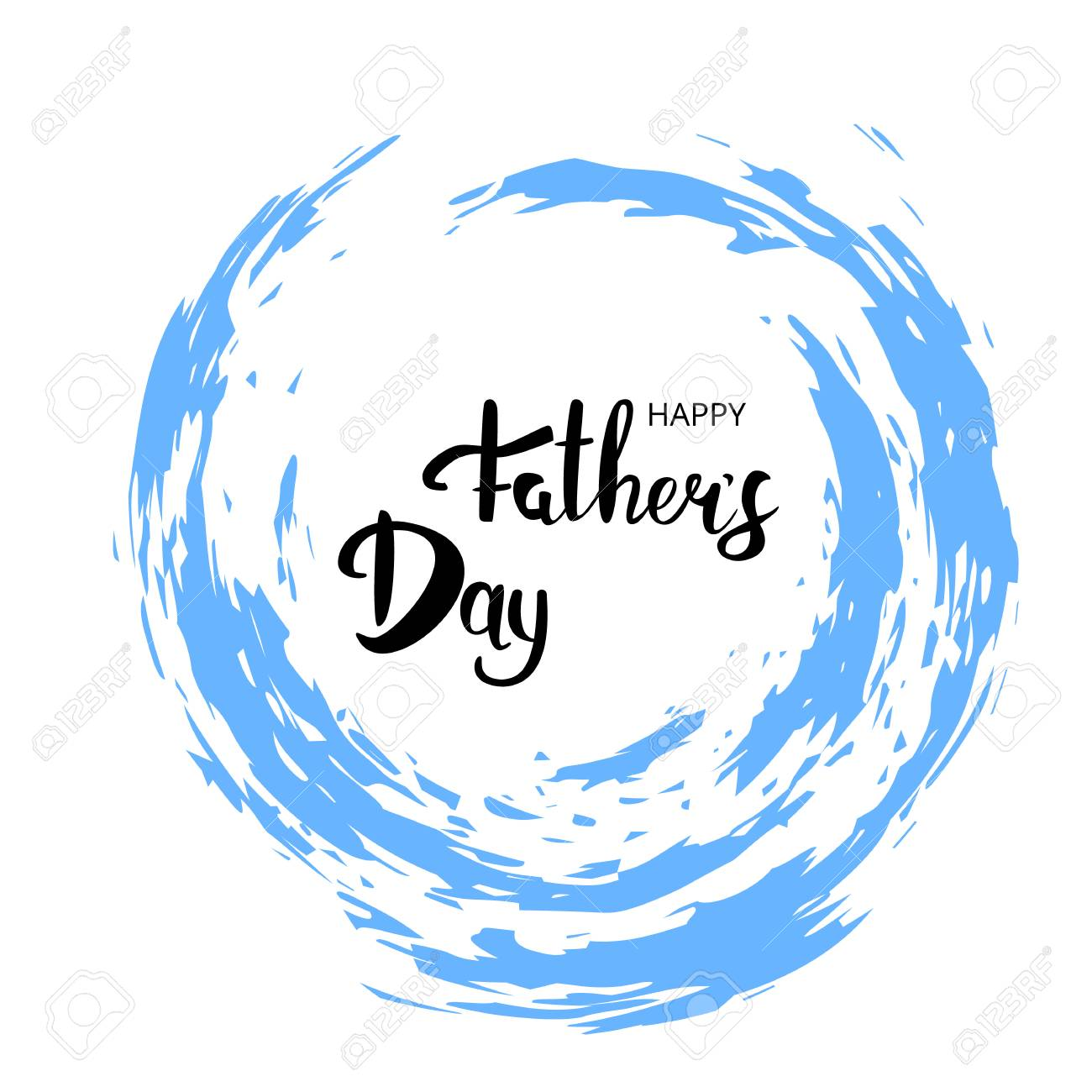 happy fathers day card handwritten lettering fathers day banner vector illustration stock