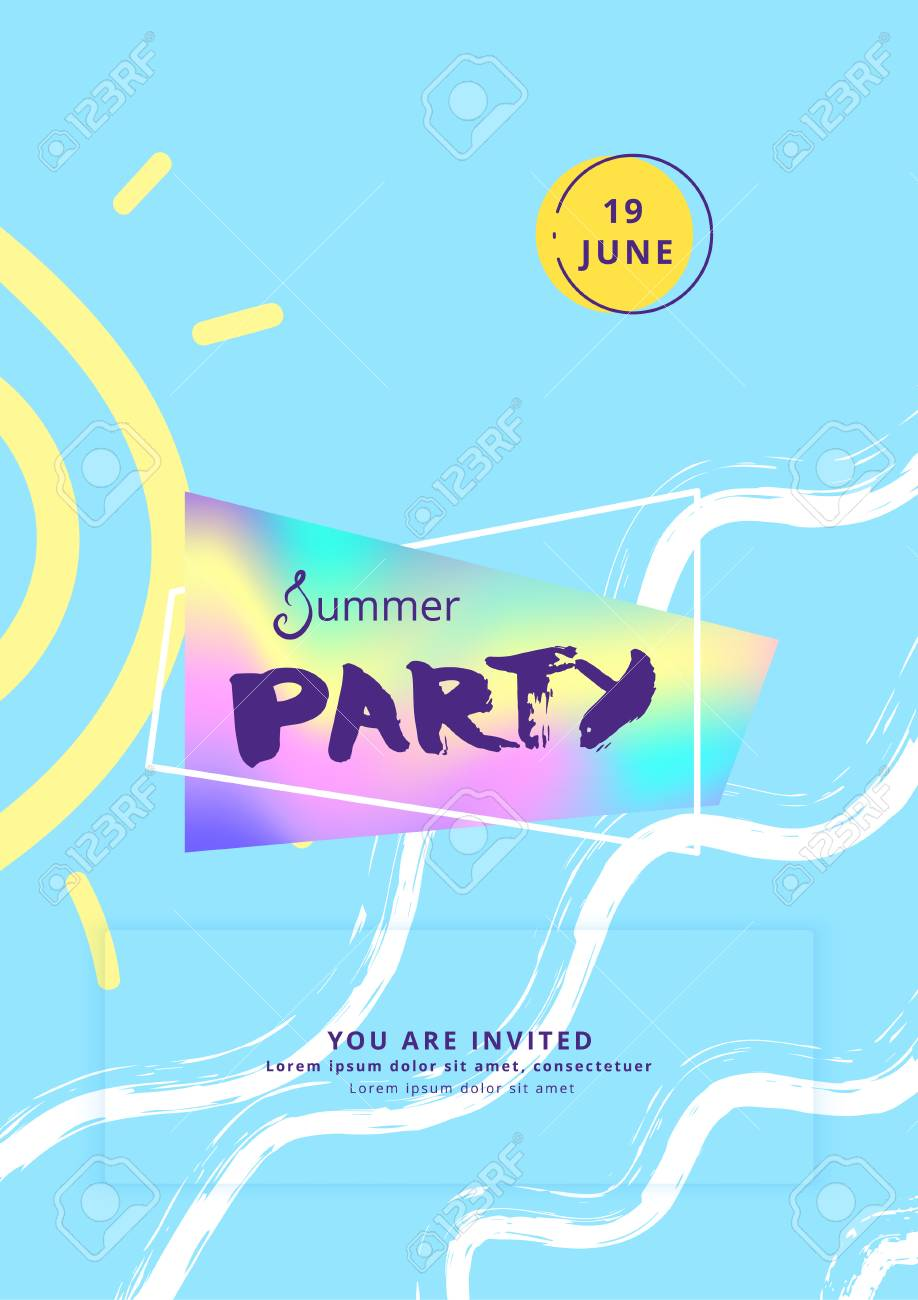Vertical summer party banner template for holiday design vector vertical summer party banner template for holiday design vector illustration stock vector maxwellsz