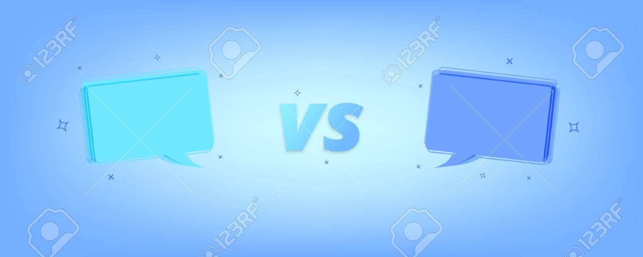 vs card versus screen template with speech bubbles vector