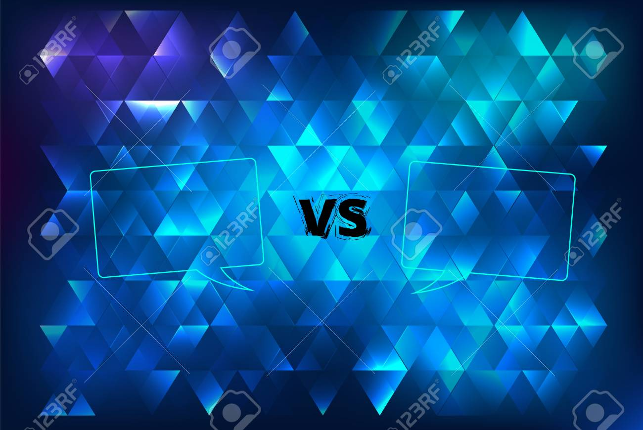 vs horizontal card with abstract background versus screen template