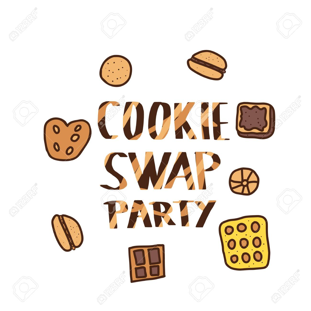Cookie Swap Party Concept With Quote And Pastry Hand Lettering