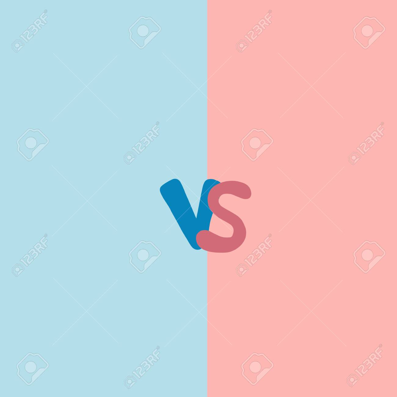 Versus Sign With Copy Space Vs Screen Decorative Battle Cover