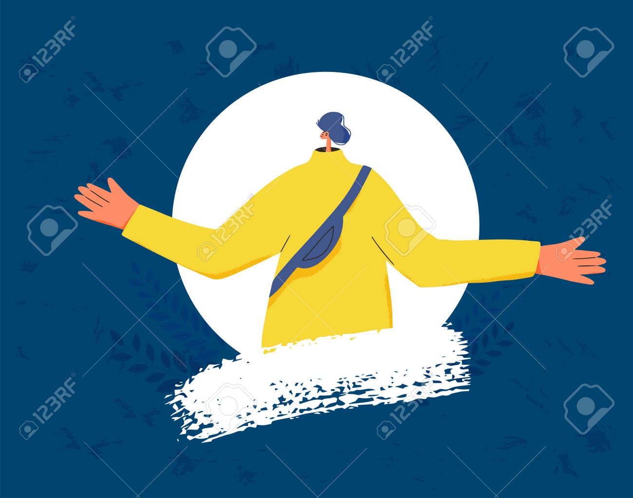 Pensive man icon. Person in doubt. Teenager frustrated by current situation. Male character thinking about problems. Vector flat illustration. - 168652660