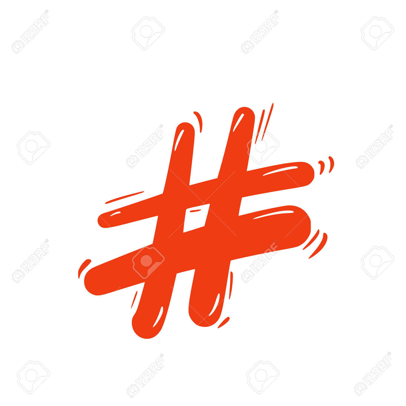 Hashtag or number sign isolated on white background. social media hash tag symbol. Vector illustration. - 170370115