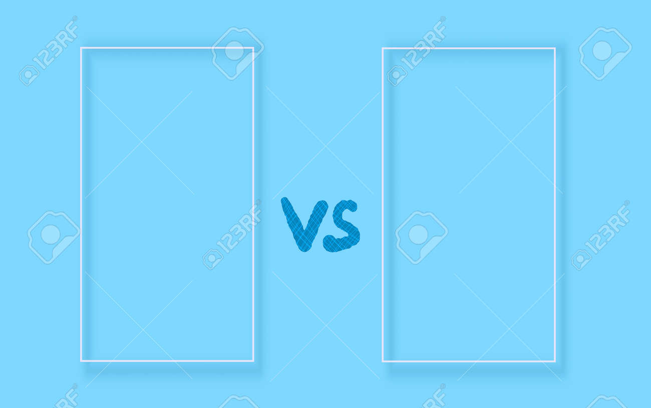 Versus sign with copy space. VS screen. Decorative battle cover with lettering. Template for banner for competition. Vector illustration. - 168652674