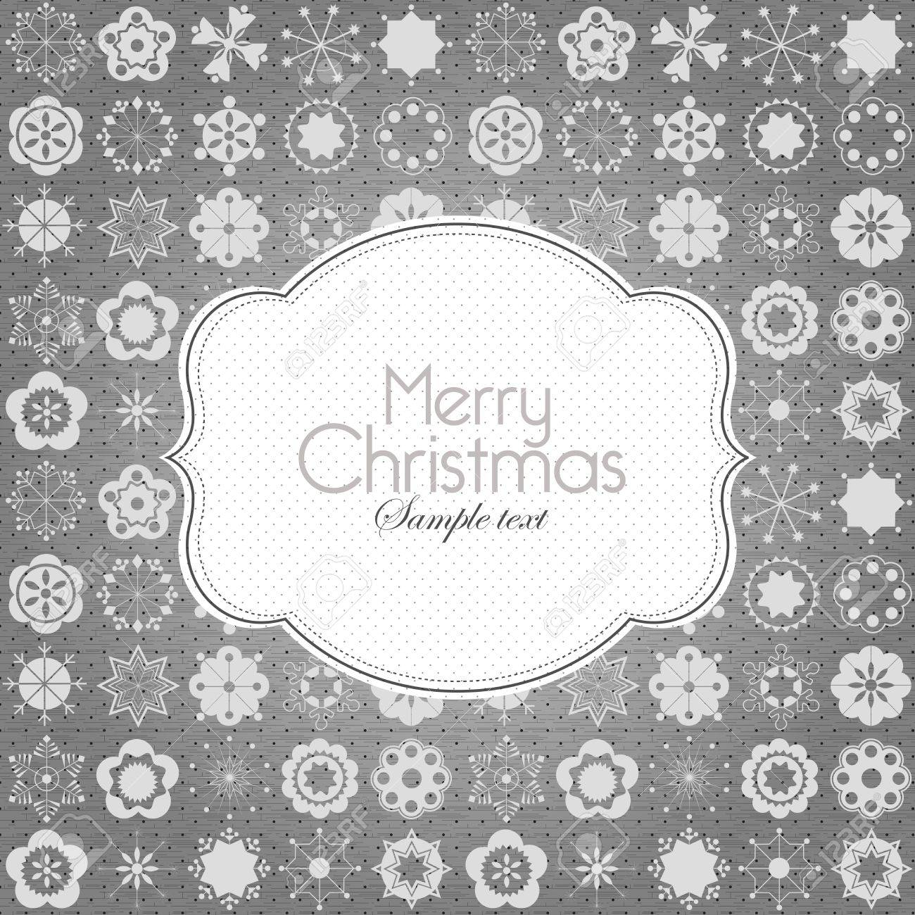 Plantilla De Diseño De Marco Para Tarjeta De Navidad Ilustraciones ...