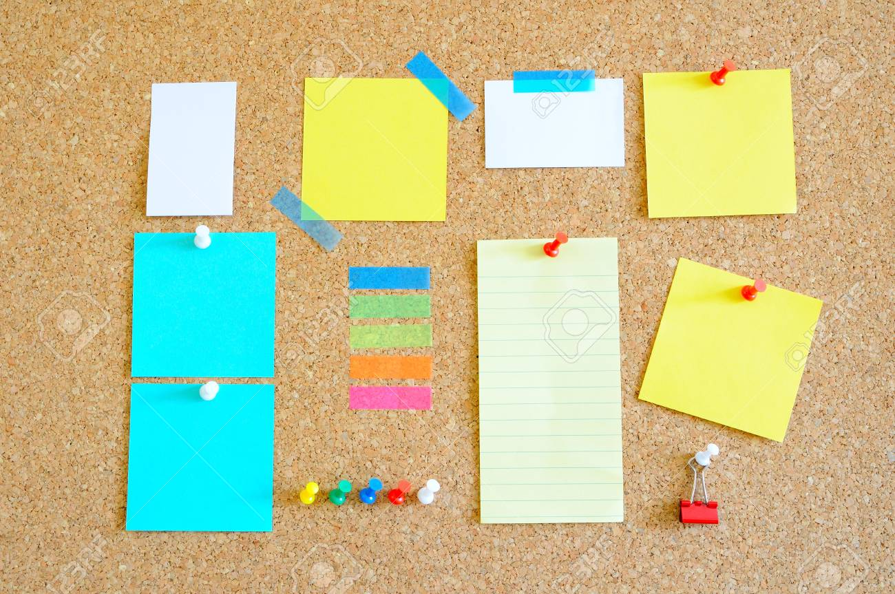 Pin board with lots of items Stock Photo - 17580496