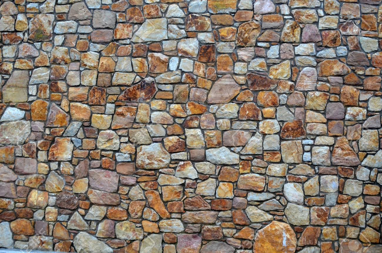 Muro De Piedra De Piedras Naturales También Para Utilizar Como Fondo Fotos Retratos Imágenes Y Fotografía De Archivo Libres De Derecho Image 14619925