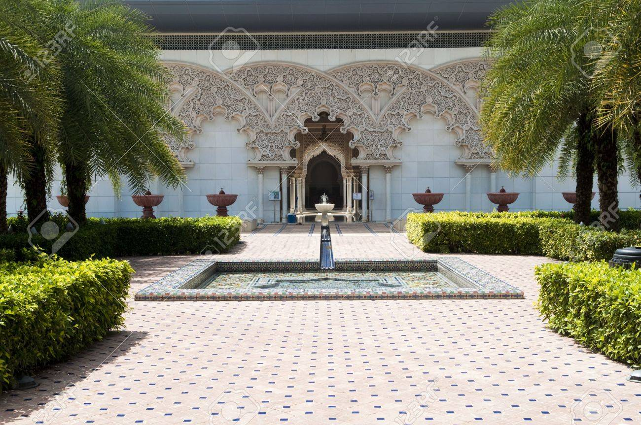 Beautiful Moroccan Architecture Inner Garden In Putrajaya Malaysia Stock  Photo   4692270