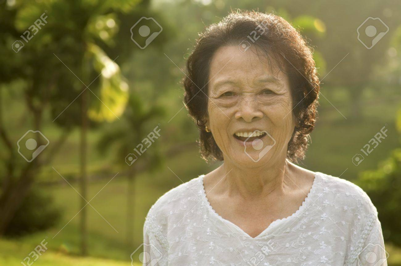 Admirable 8039S Asian Senior Woman At Park In A Morning Stock Photo Picture Hairstyles For Women Draintrainus