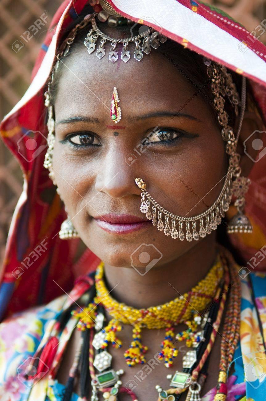 Portrait of a India Rajasthani woman Stock Photo - 10285732