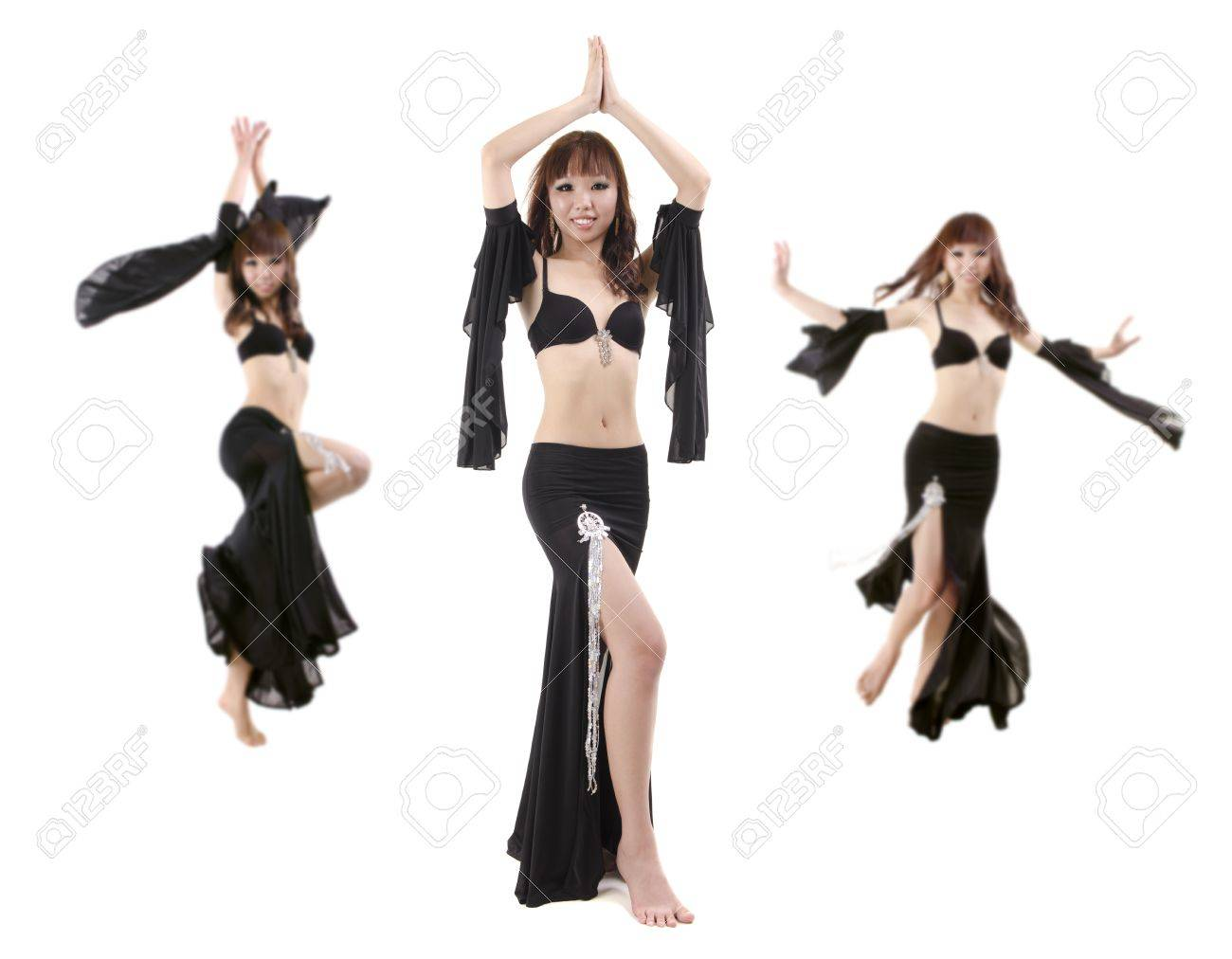 Belly dancing performance on white background Stock Photo - 12666377