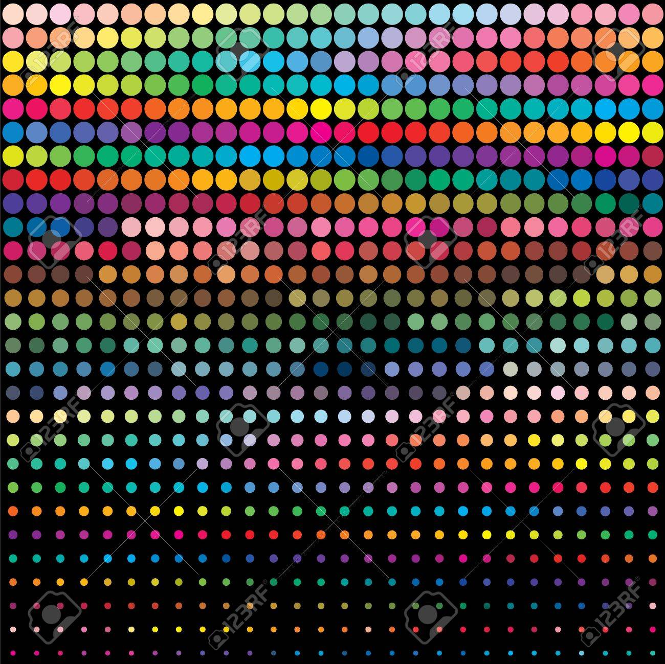 Circle color palette background or texture Stock Photo - 12726369