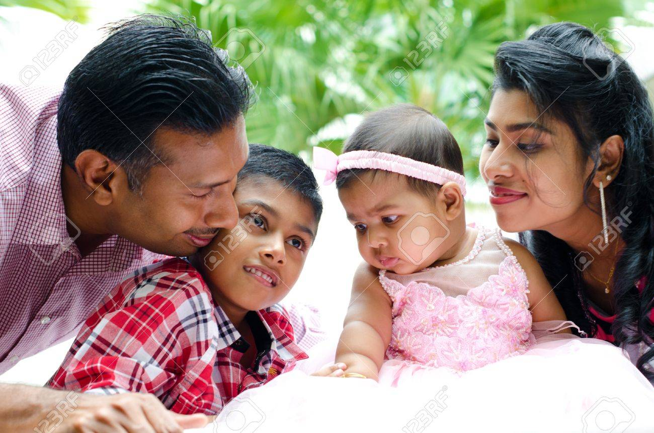 Happy Indian family having fun time at outdoor Stock Photo - 15074896