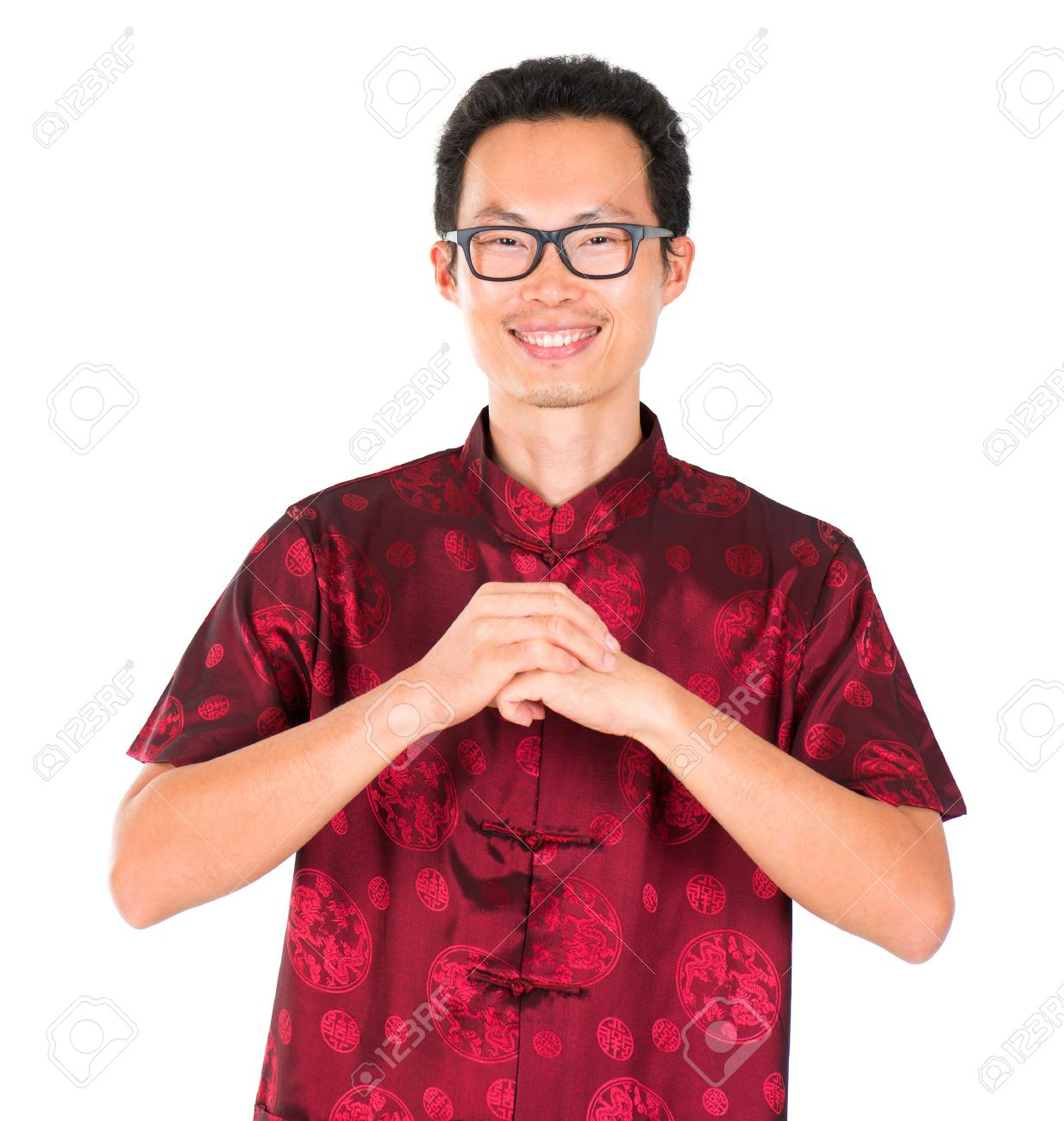 China man in traditional chinese tang suit greeting isolated china man in traditional chinese tang suit greeting isolated on white background stock photo m4hsunfo