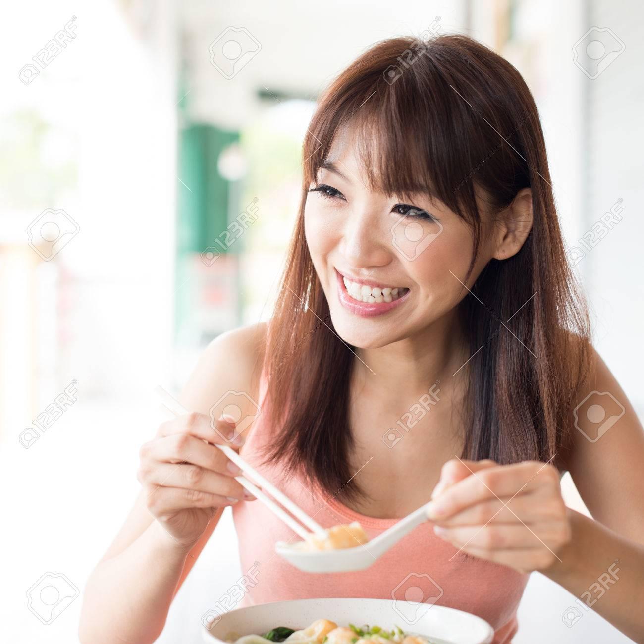 Reality porn asian girl eating noodles nigro