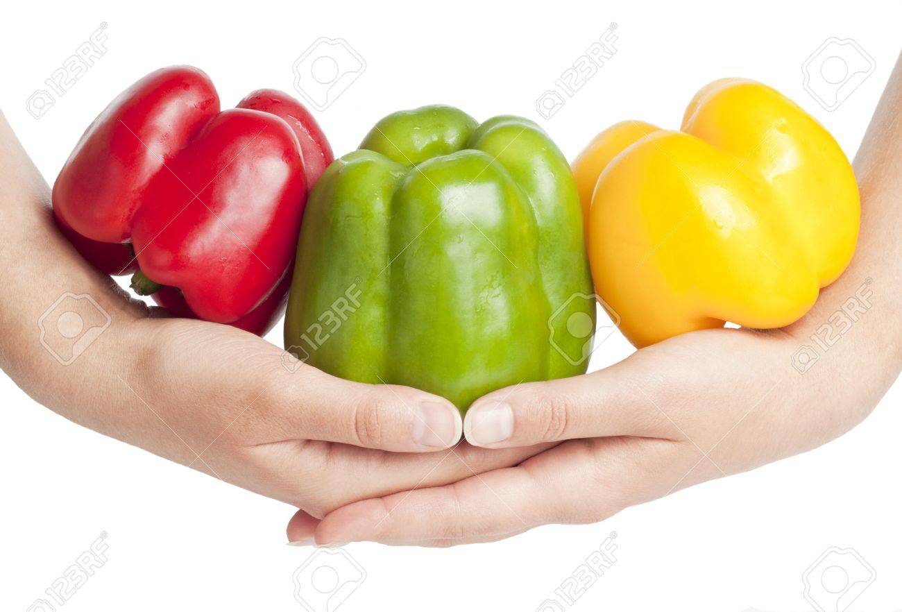 Peppers on hands Stock Photo - 7730030