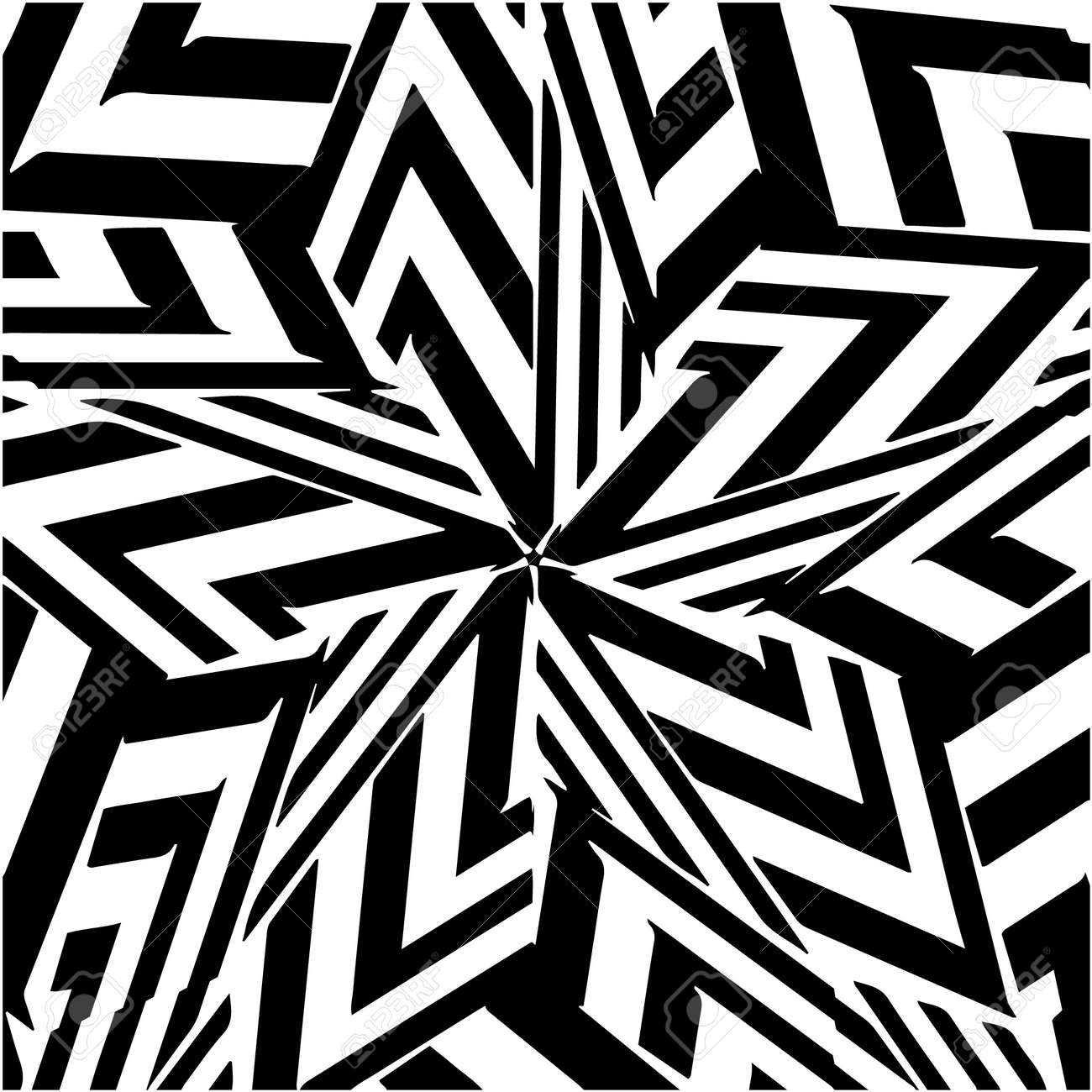 striped background. Geometric vector pattern with triangular elements. abstract ornament for wallpapers and backgrounds. Black and white colors. - 169624750