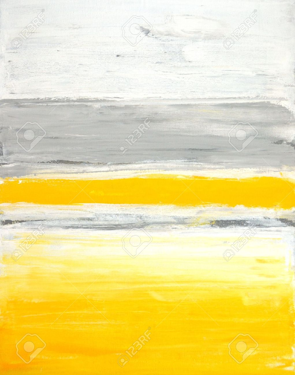 Grey And Yellow Abstract Art Painting Stock Photo   20354217