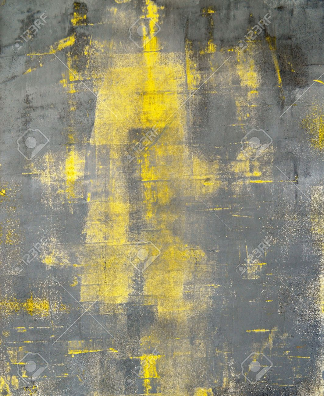 cb8b5e40902 Grey and Yellow Abstract Art Painting Stock Photo - 20354242