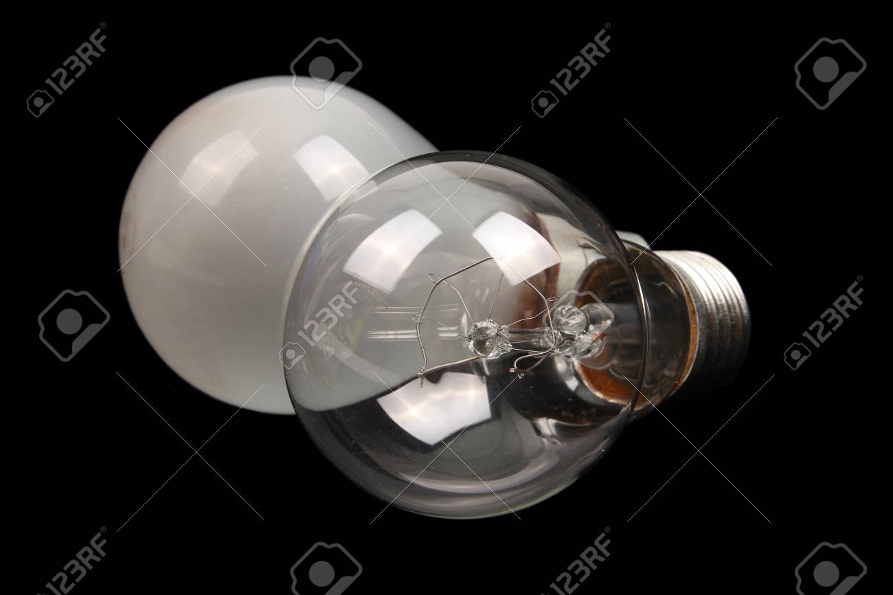 Conventional clear and frosted glass light bulbs
