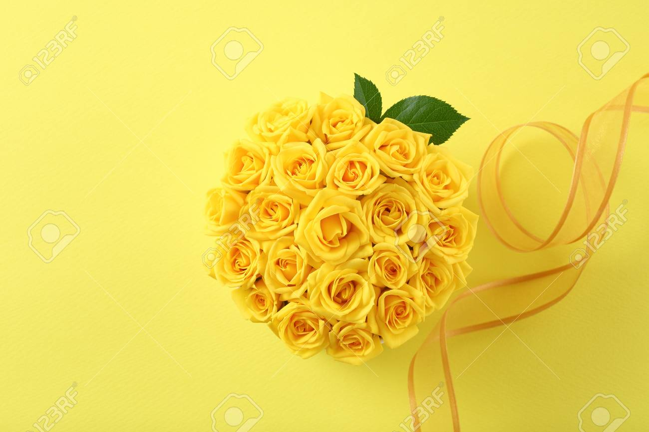 Yellow Flower Arrangements Stock Photo Picture And Royalty Free