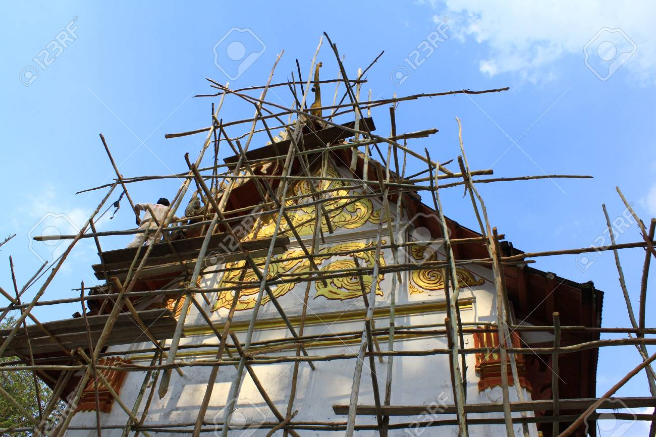 Temple cult the sky in Thailand Stock Photo - 13662674