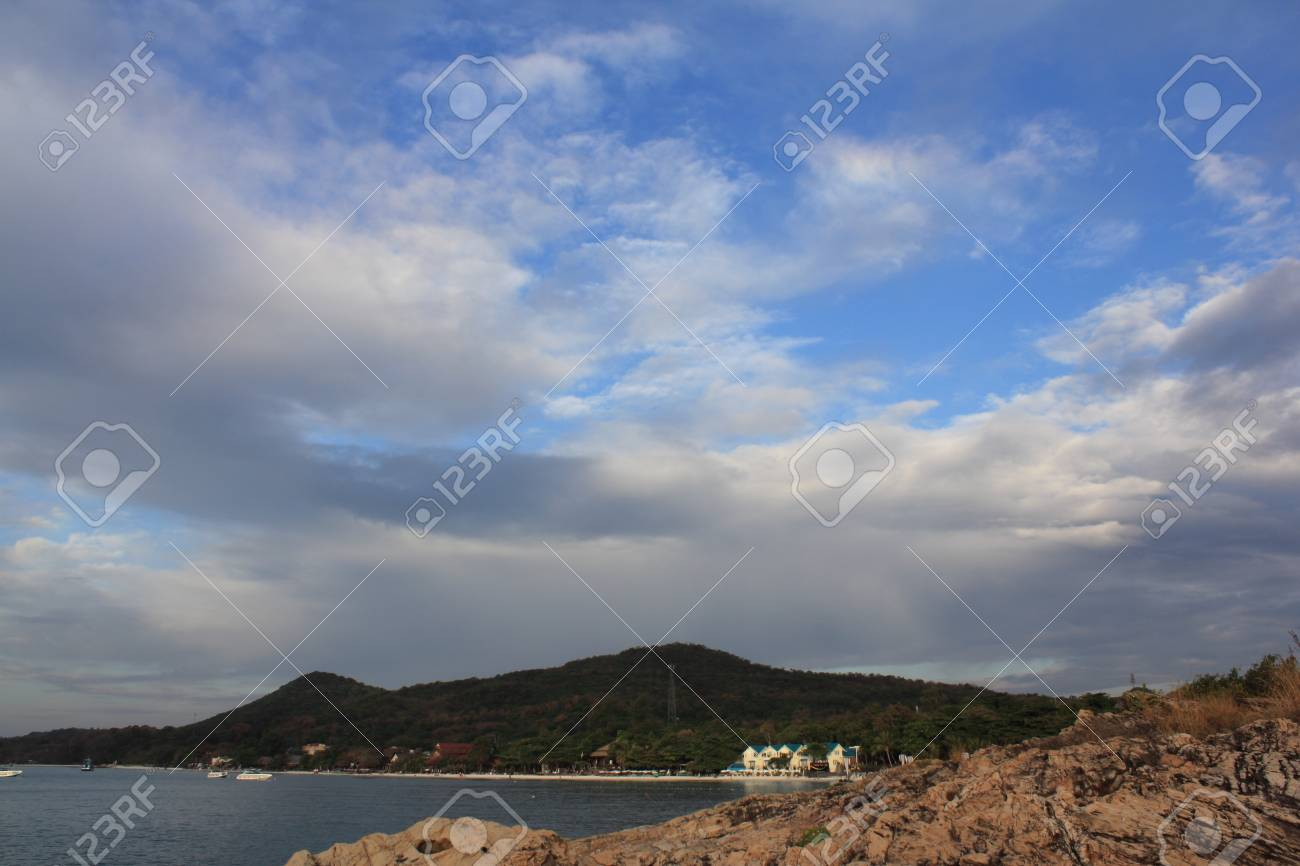 Rocks and blue sea in Thailand Stock Photo - 13630468