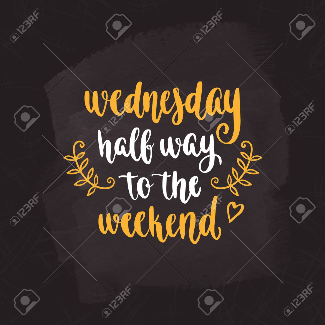 Week Days Motivation Quotes Wednesday Royalty Free Cliparts