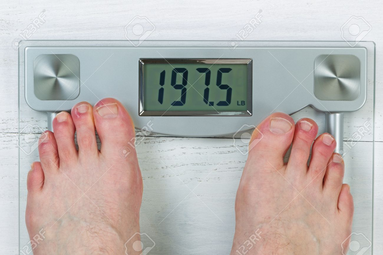 Stock P O Weight Scale Disbody Weight With Bare Male Feet