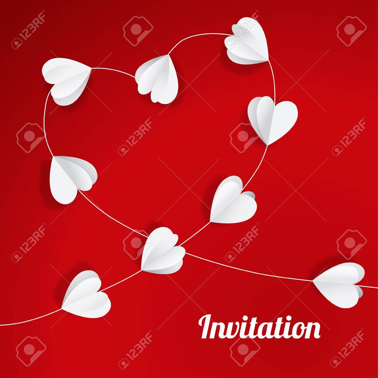 Nette Valentinsgruß, Hochzeit, Muttertag Karte, Einladung Mit Papier ...