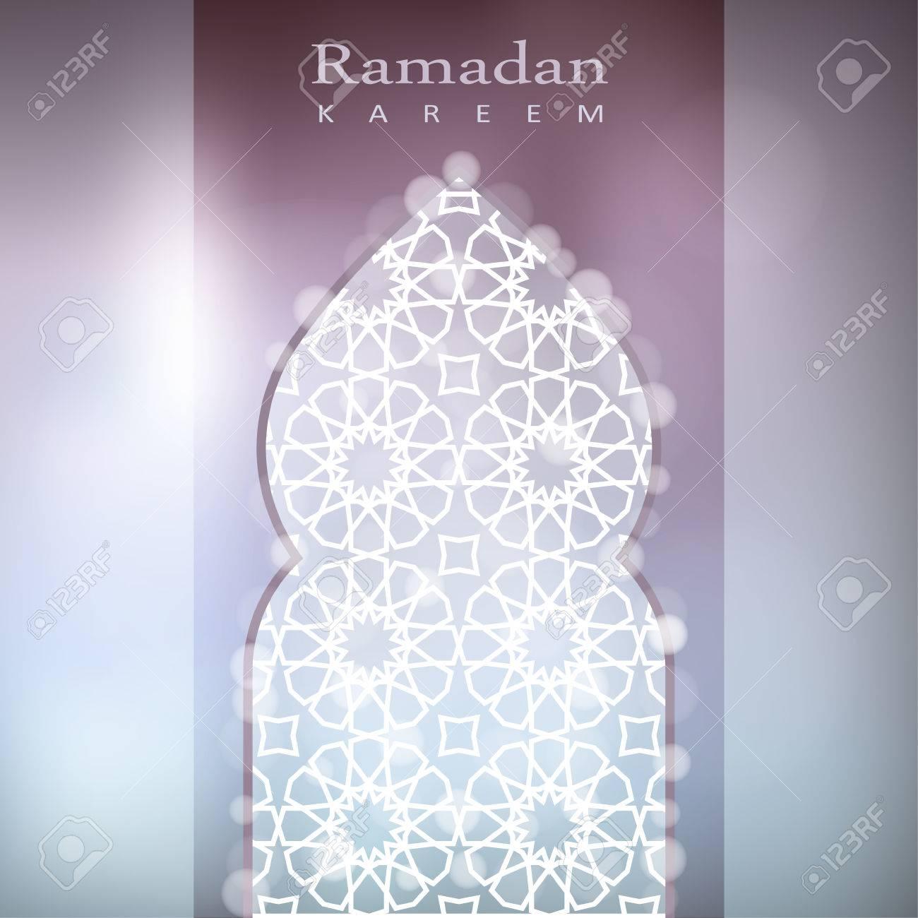 Ornamental mosque window with bokeh lights vector illustration ornamental mosque window with bokeh lights vector illustration background card invitation for muslim stopboris Choice Image