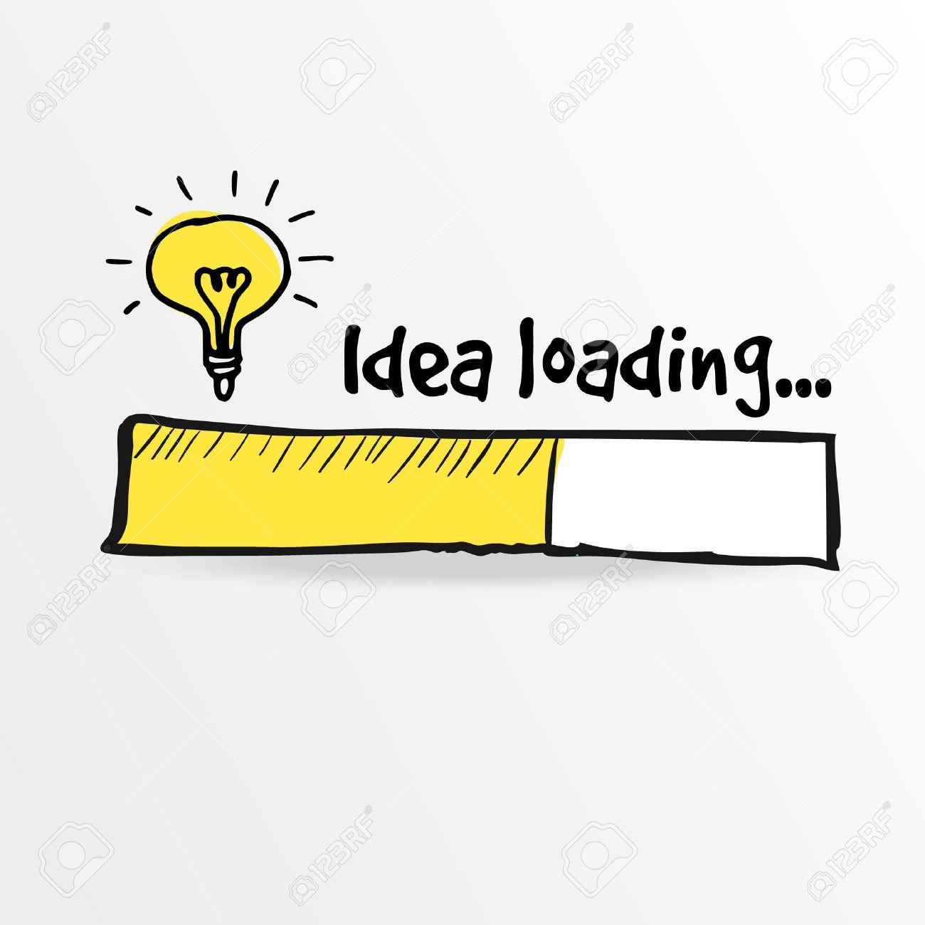 Loading bar with bulb, creativity, big idea, innovation concept, vector illustration sketch - 42122897